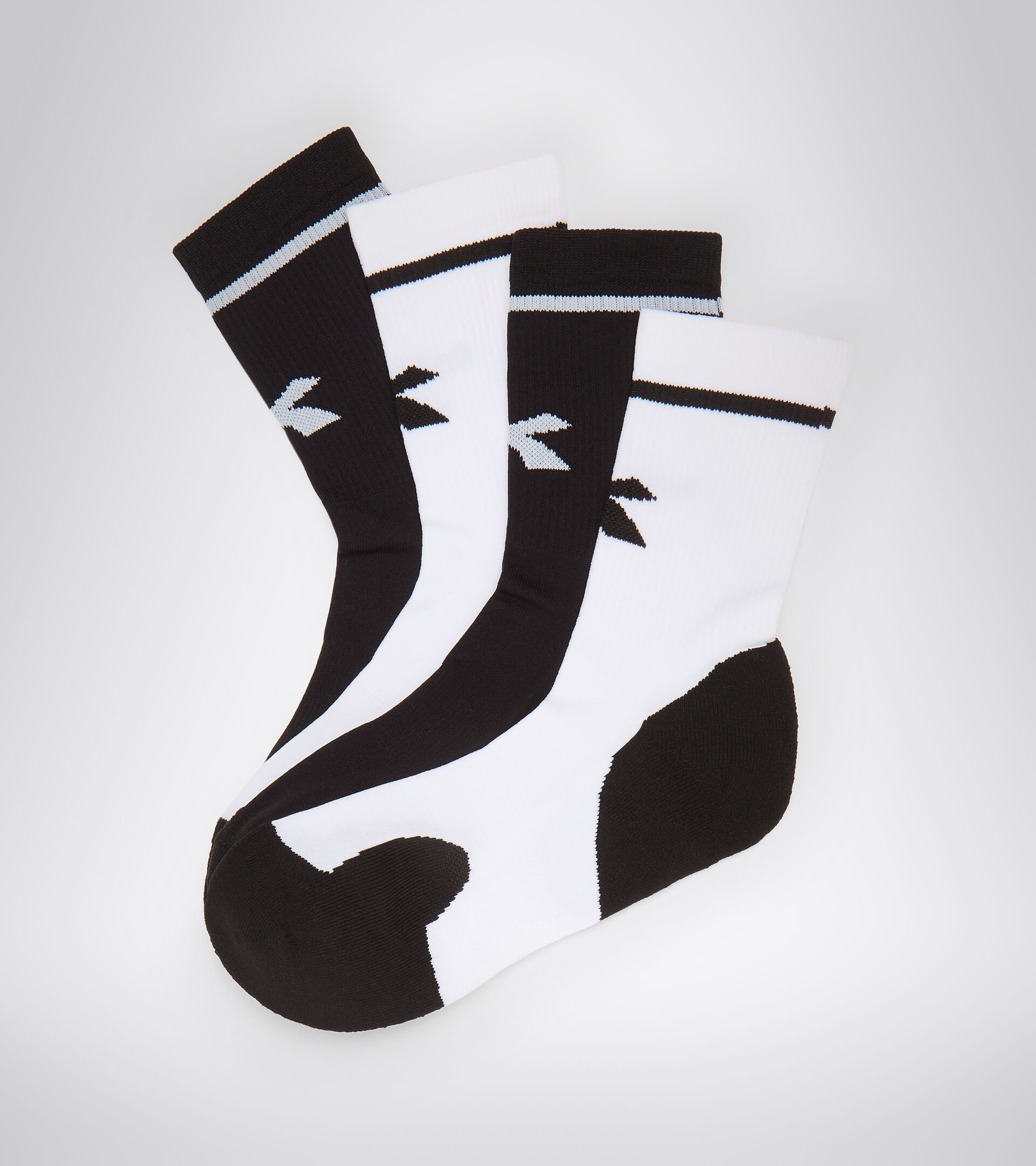 Accessories Sport UOMO SOCKS OPTICAL WHITE/BLACK Diadora