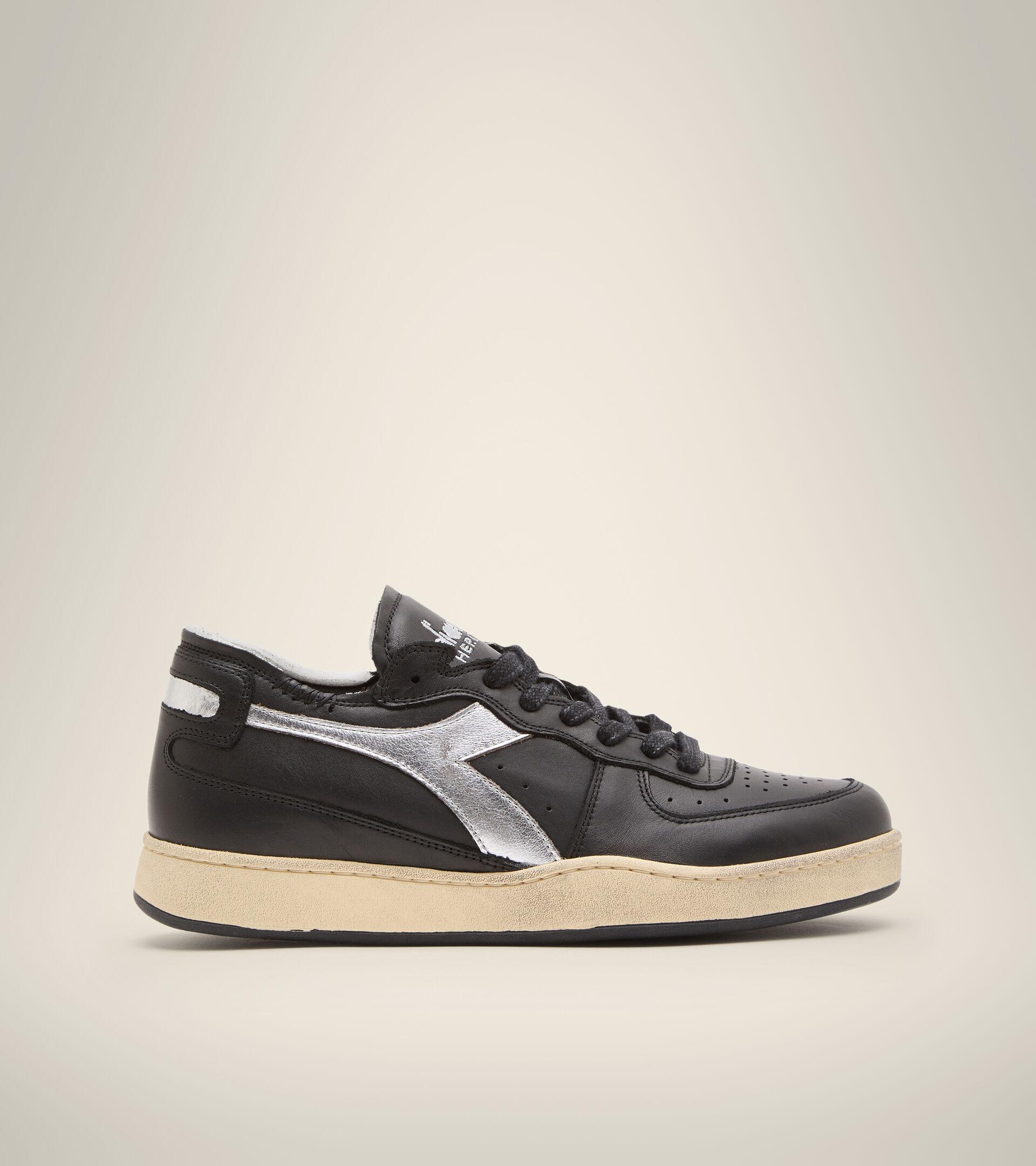 Footwear Heritage UNISEX MI BASKET ROW CUT NEW MOON NERO Diadora