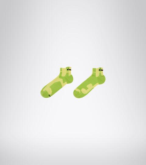 Chaussettes de Running - Unisexe CUSHION QUARTER SOCKS CITRON VERT - Diadora