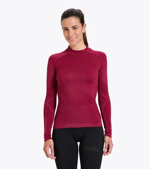 Long-sleeved training t-shirt - Women L. TURTLE NECK ACT VIOLET RUBINE - Diadora