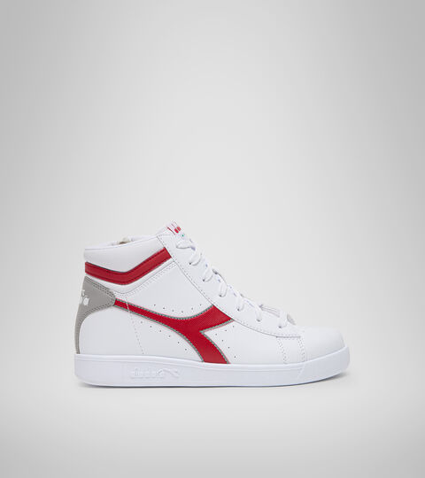 Footwear Sport BAMBINO GAME P HIGH GS WHITE/TANGO RED Diadora