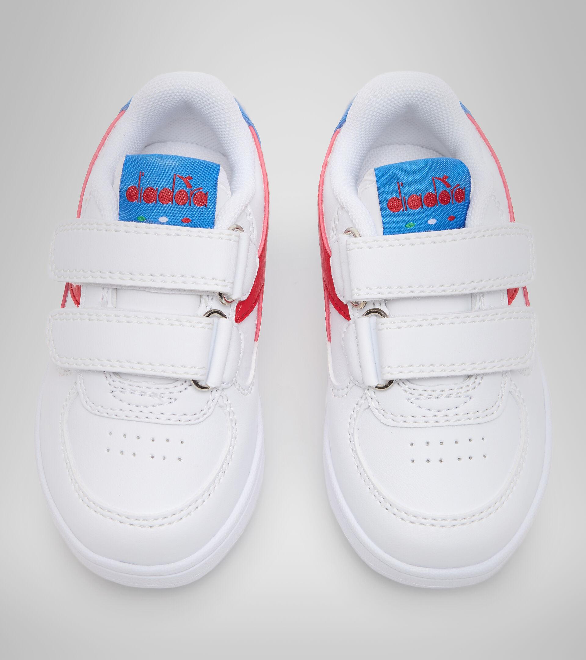 Footwear Sport BAMBINO RAPTOR LOW TD BIANCO/TOMATO RED Diadora