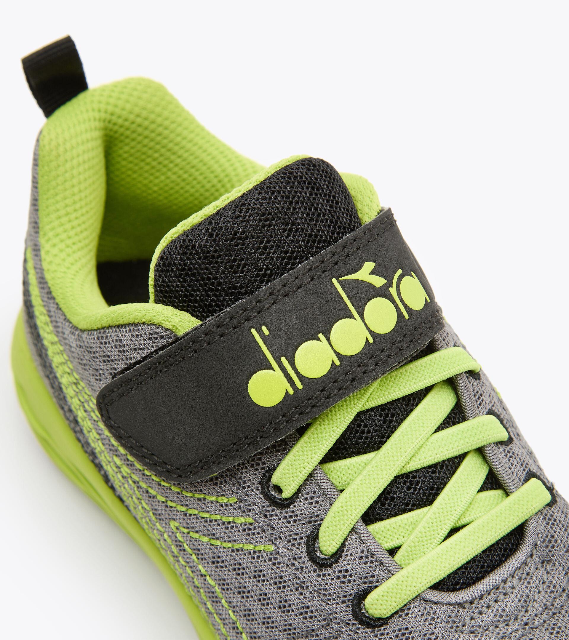 Running shoe - Kids FLAMINGO 6 JR STEEL GRAY/LIME PUNCH - Diadora