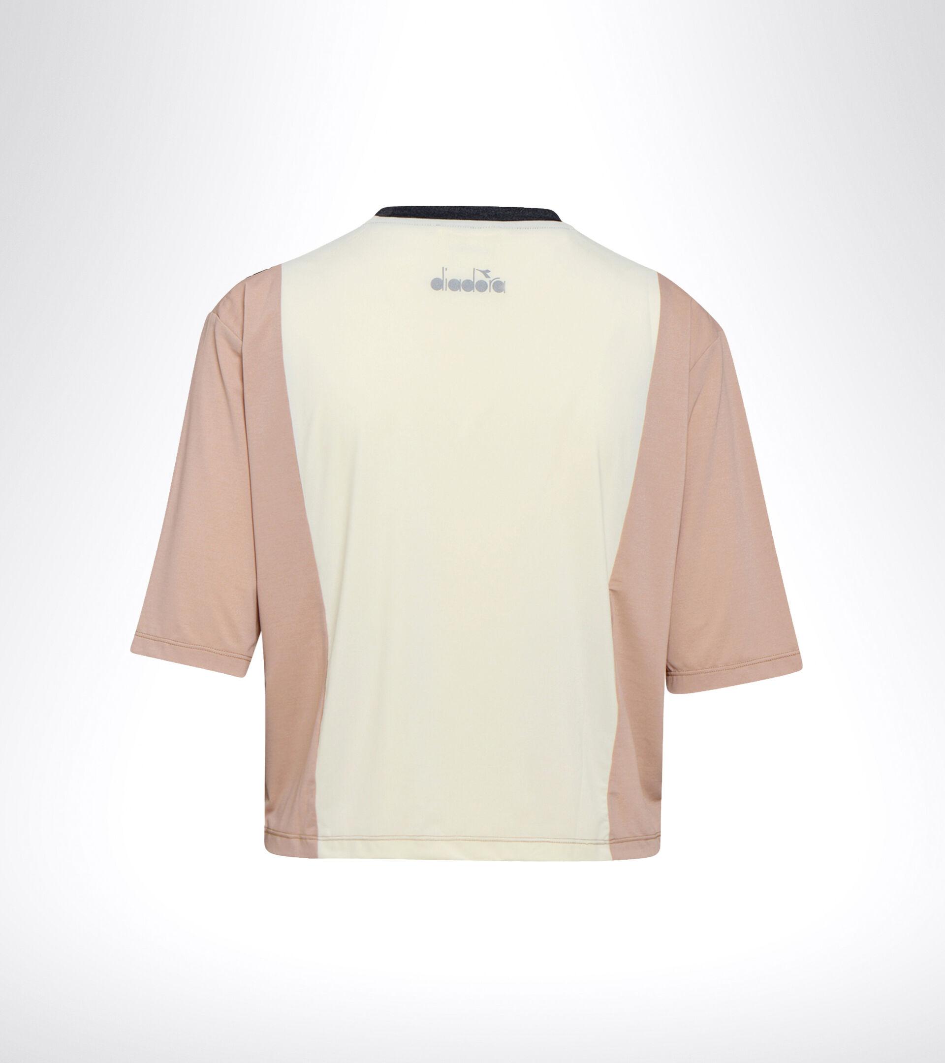 Camiseta para correr - Mujer L. SS T-SHIRT BE ONE TECH ROSA CAOBA/BLANCO MURMURAR - Diadora