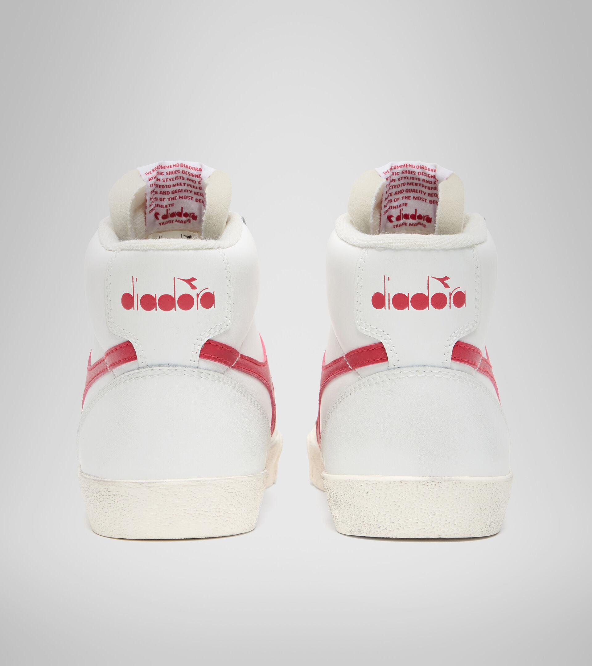 Footwear Sportswear UNISEX MELODY MID LEATHER DIRTY BIANCO/ROSSO TANGO Diadora