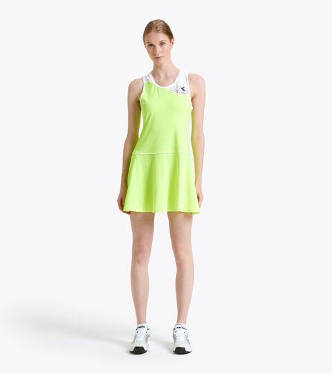 Vestido de tenis - Mujer L. DRESS COURT AMARILLO FLUO DD - Diadora