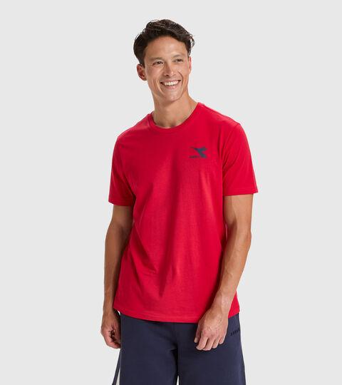 T-shirt - Men T-SHIRT SS CHROMIA TANGO RED - Diadora