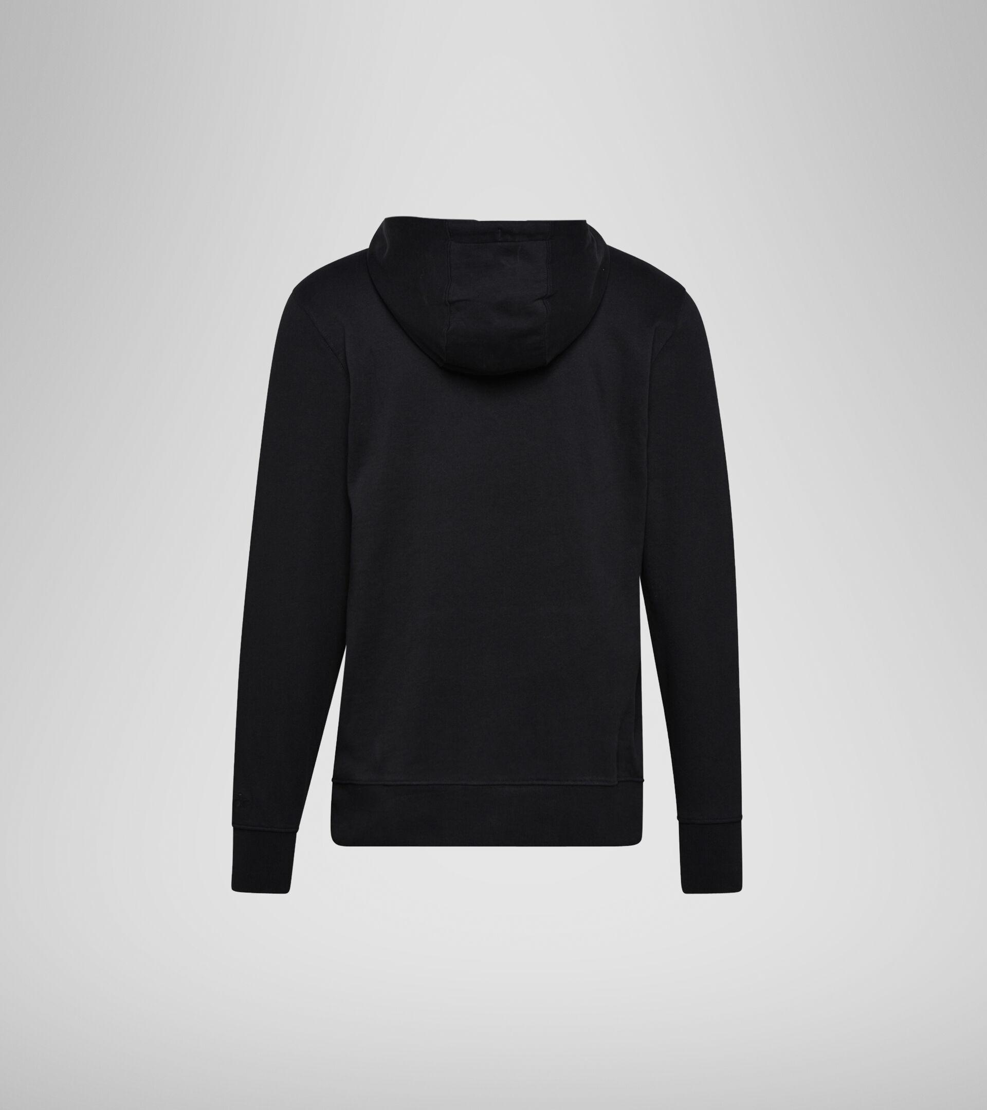 Apparel Sportswear UOMO HOODIE SPECTRA NEGRO/VERDE VIRIDIAN/BLCO LECH Diadora