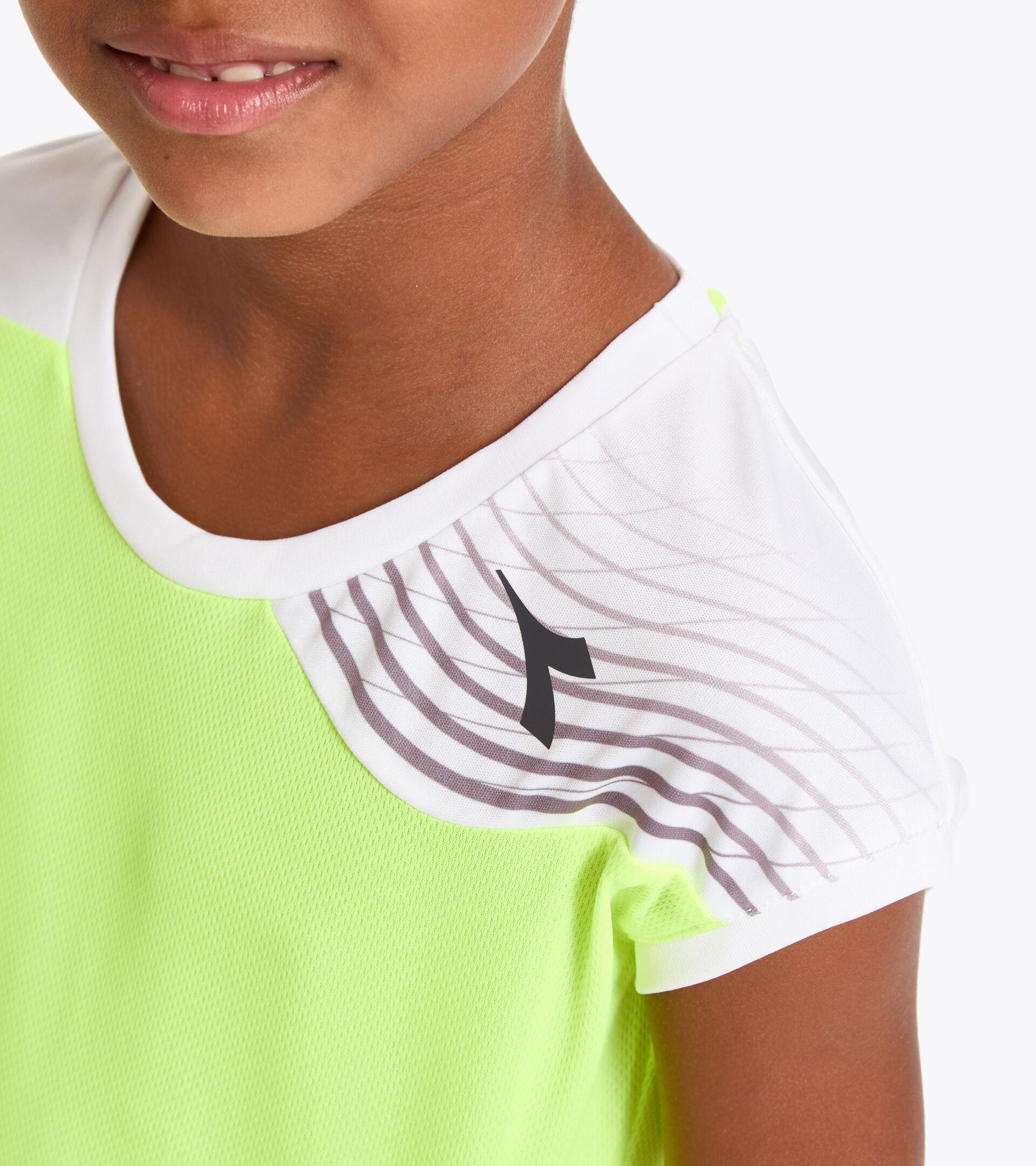 Camiseta de tenis - Junior G. T-SHIRT COURT AMARILLO FLUO DD - Diadora