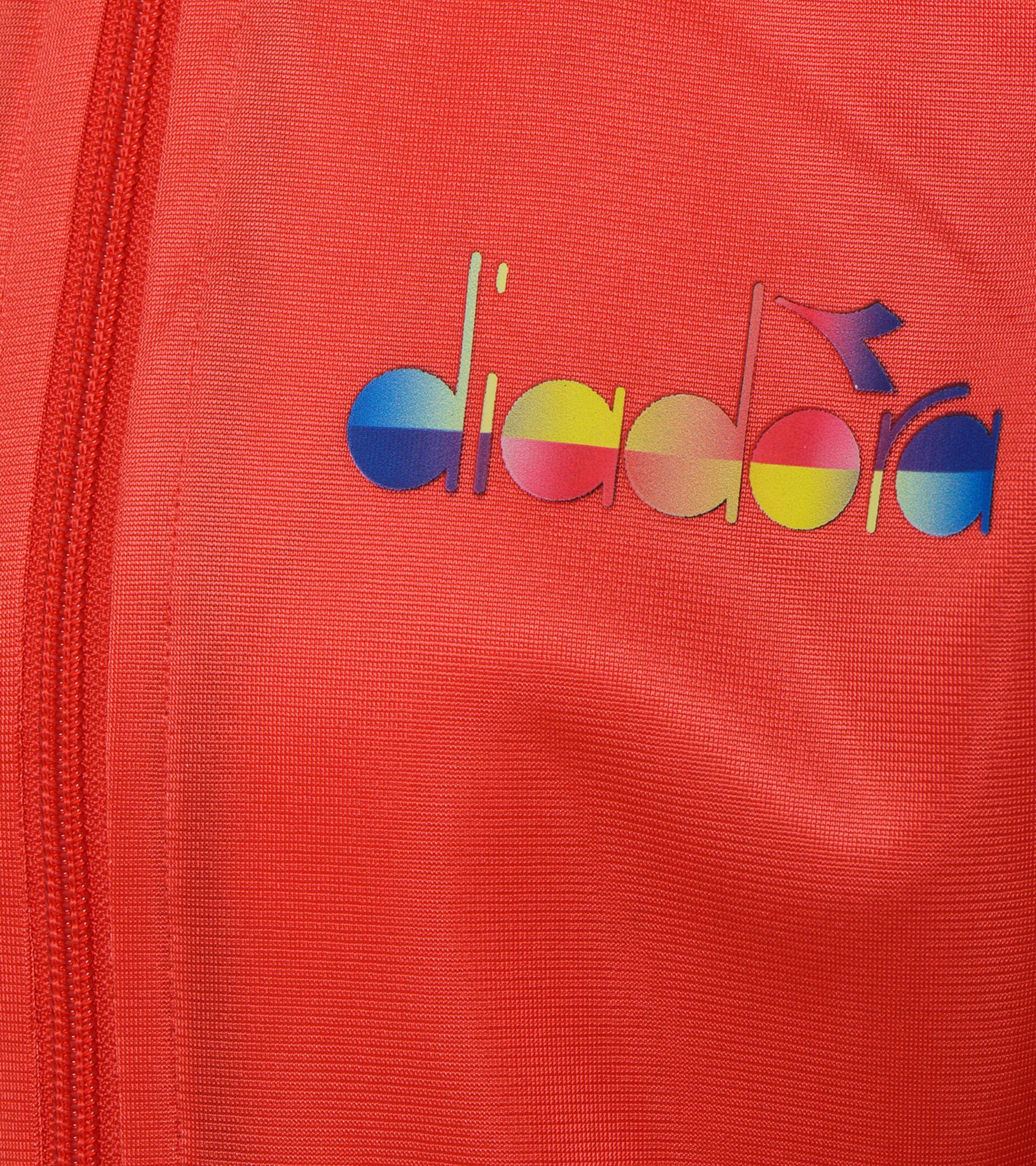 Apparel Sport BAMBINO JB. TRACKSUIT FZ DIADORA CLUB ROJO AMAPOLA Diadora