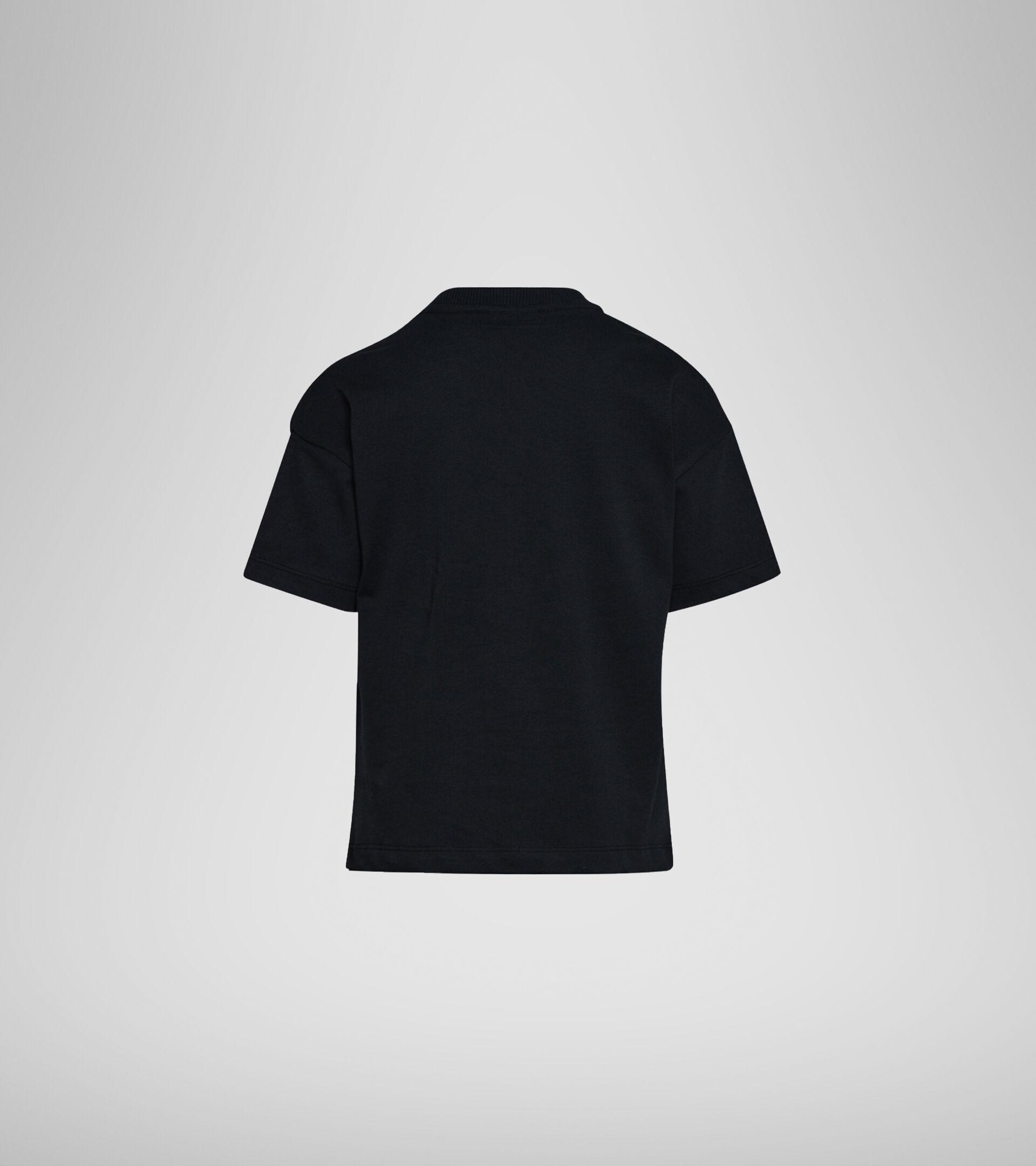 T-Shirt mit Logo -  Jungs und Mädchen JU. T-SHIRT SS ELEMENTS SCHWARZ - Diadora