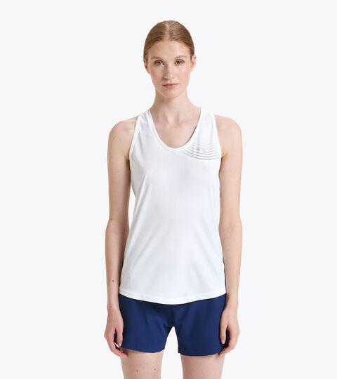 Camiseta de tennis sin mangas - Mujer L. TANK COURT BLANCO VIVO - Diadora