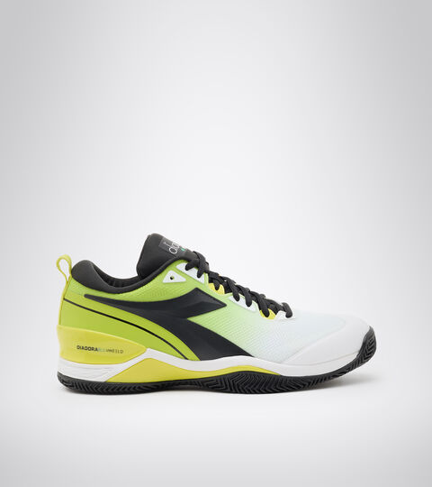 Clay court tennis shoe - Men SPEED BLUSHIELD 5 CLAY WHITE/BLACK/LIME GREEN - Diadora