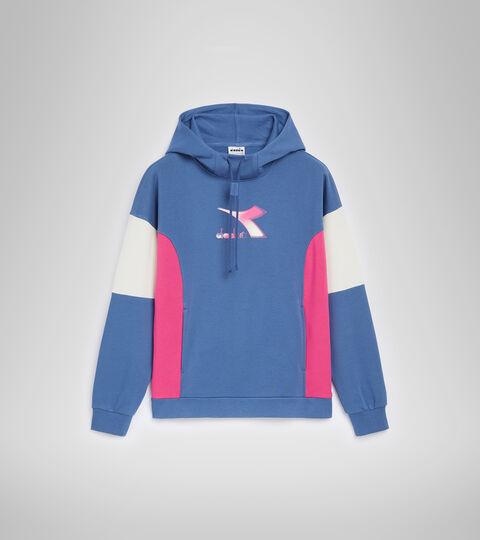 Sweat-shirt à capuche - Femme L.HOODIE LUSH BLU BIJOU - Diadora