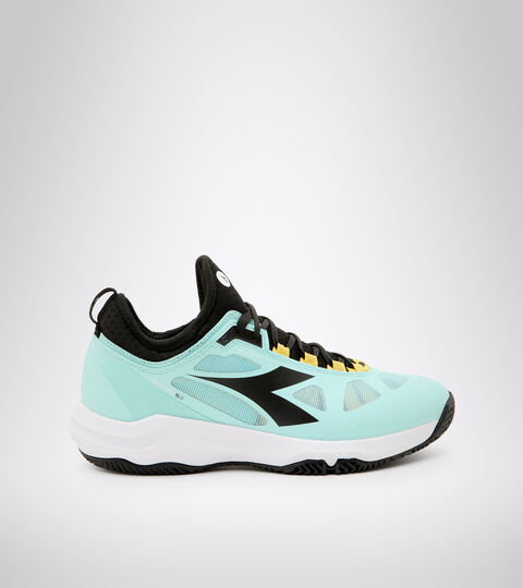 Clay court tennis shoe - Women SPEED BLUSHIELD FLY 3 + W CLAY BLUE TINT/BLACK/WHITE - Diadora
