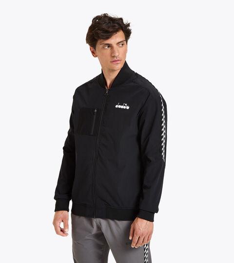 Tennis jacket - Men FZ JACKET CHALLENGE BLACK - Diadora