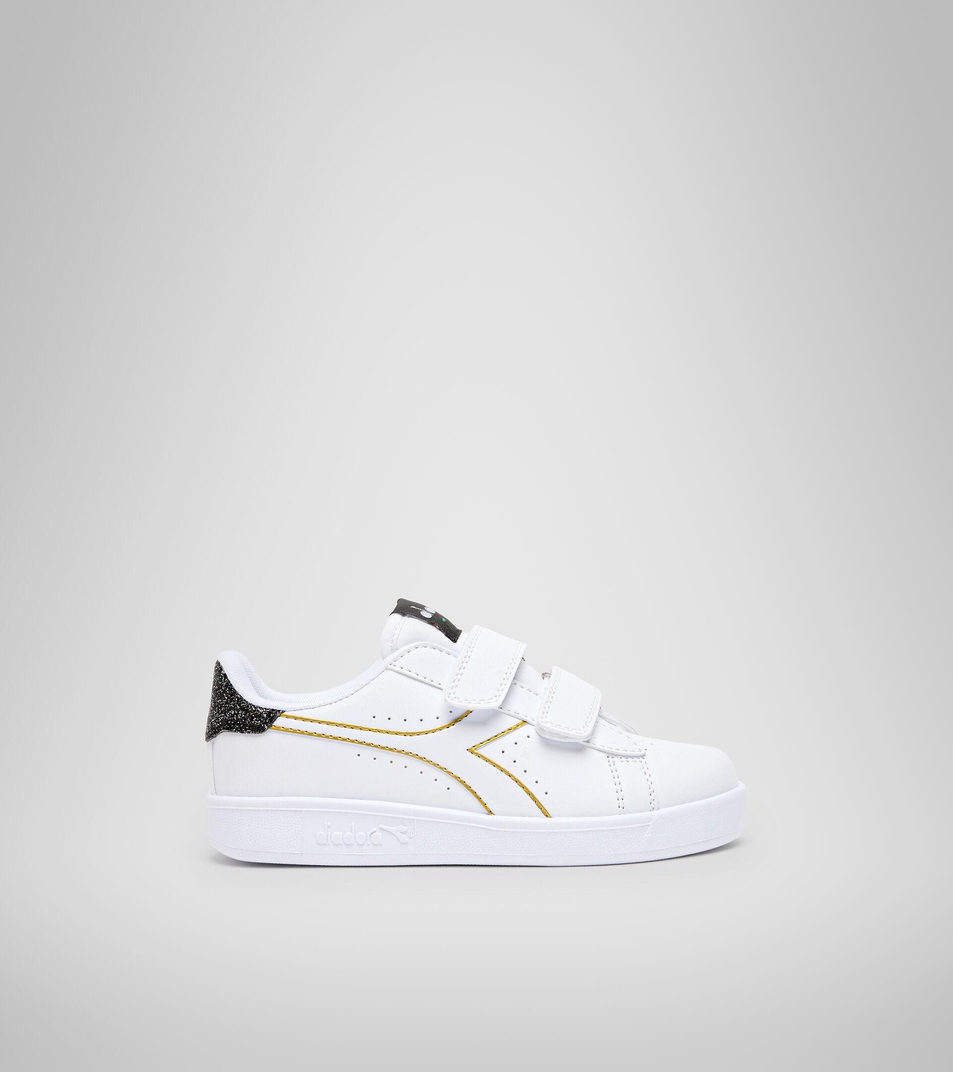 Footwear Sport BAMBINO GAME P PS GIRL WHITE/BLACK/GOLD Diadora