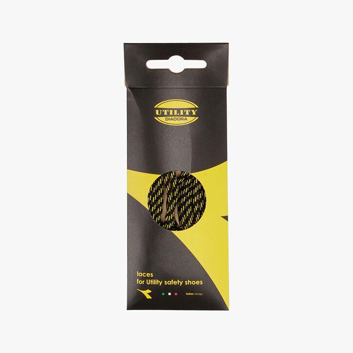 LACCIO TONDO RIGATO TERMO 110 CM, BLACK /YELLOW CROMS, large
