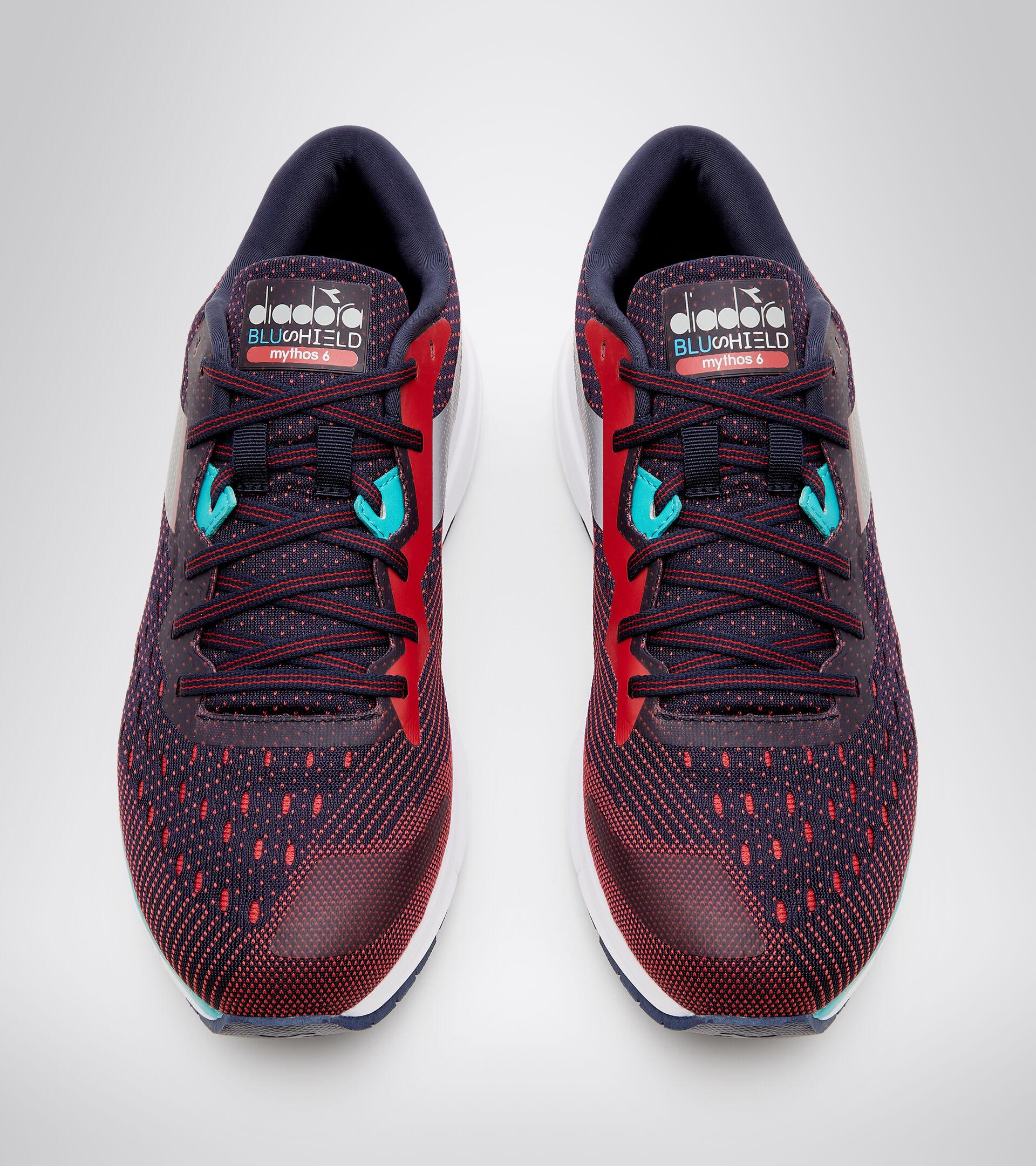 Running shoe - Men's MYTHOS BLUSHIELD 6 BLUE CORSAIR/LYCHEE - Diadora