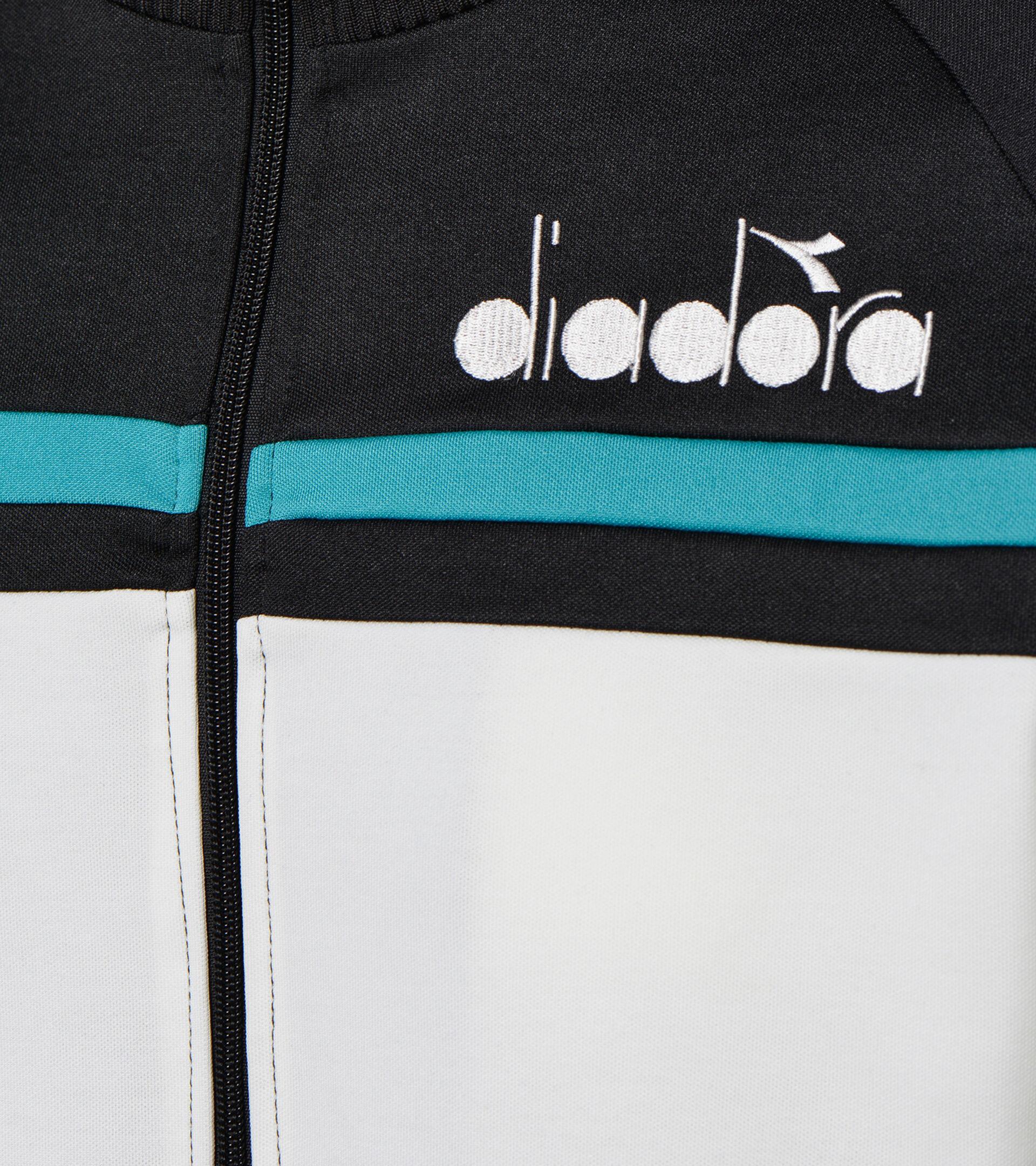 Apparel Sportswear UOMO JACKET 80S BLACK/ACQUA GREEN/WHITE MILK Diadora