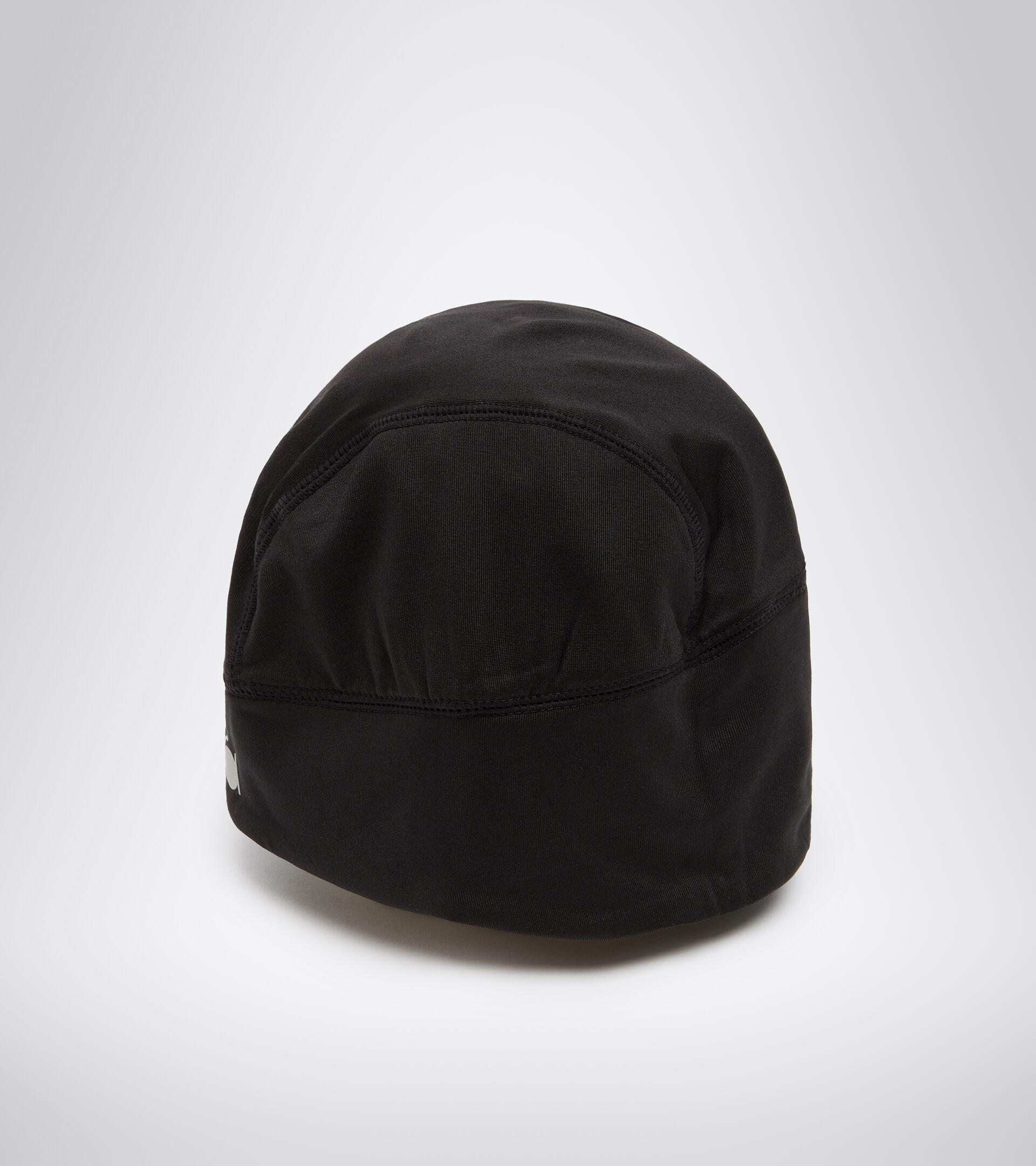 Accessories Sport UNISEX WINTER CAP LOGO REFLECTIVE NERO PIRATA 1 Diadora