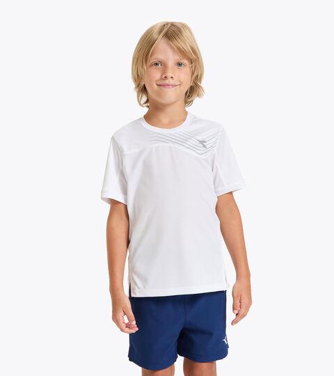 T-shirt de tennis - Junior J. T-SHIRT COURT BLANC VIF - Diadora