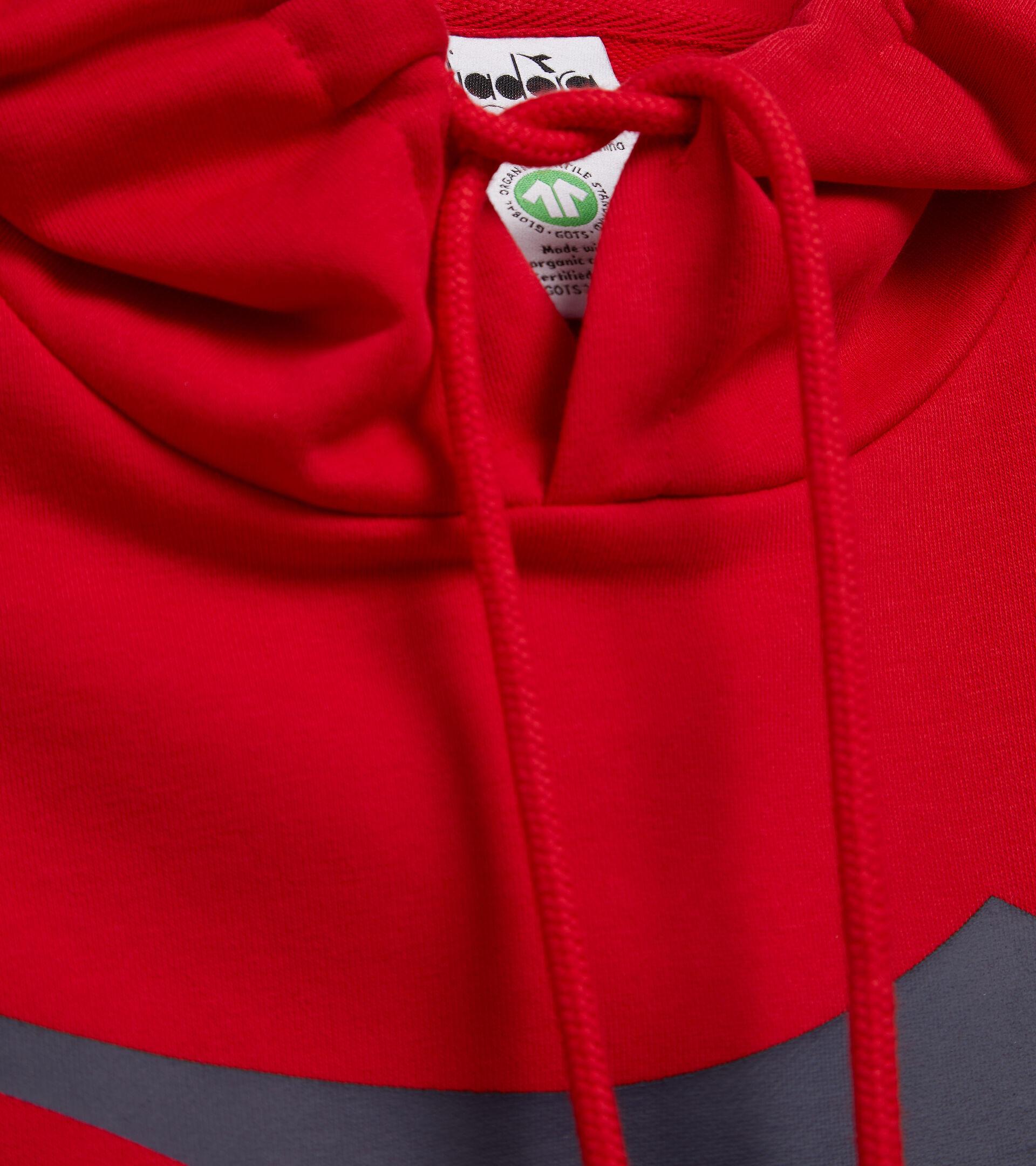 Apparel Sport UOMO HOODIE BIG LOGO TANGO RED Diadora