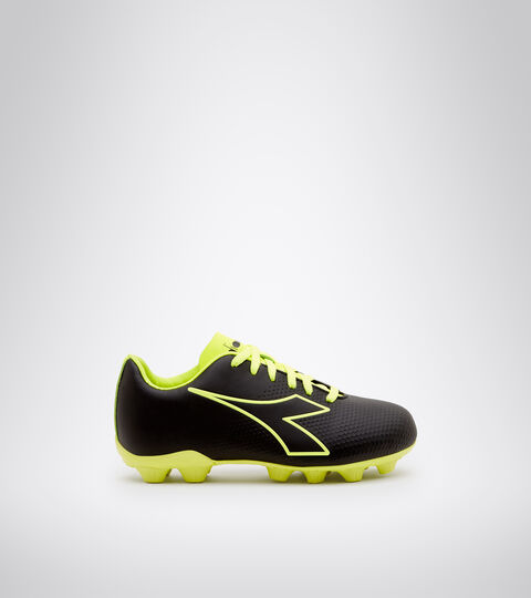 Footwear Sport BAMBINO PICHICHI 4 MD JR NEGRO/AMARILLO FLUO DD Diadora