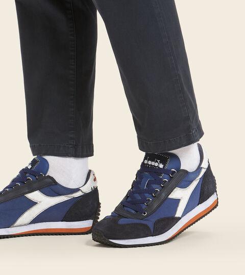 Heritage shoe - Unisex EQUIPE H DIRTY STONE WASH EVO BLUE LIMONGES - Diadora