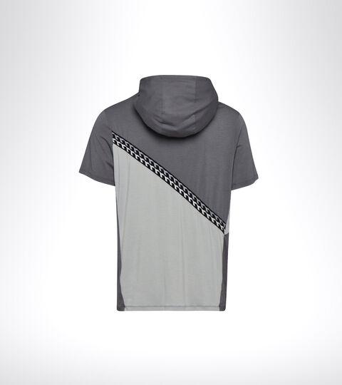 T-shirt running con cappuccio - Uomo HD SS LIGHT SWEATSHIRT BE ONE GR PENOMBRA/GRIGIO PLEUROTUS - Diadora