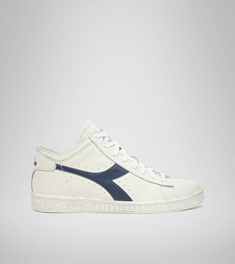 Sports shoe -Unisex GAME L WAXED ROW CUT WHITE/BLUE CASPIAN SEA - Diadora