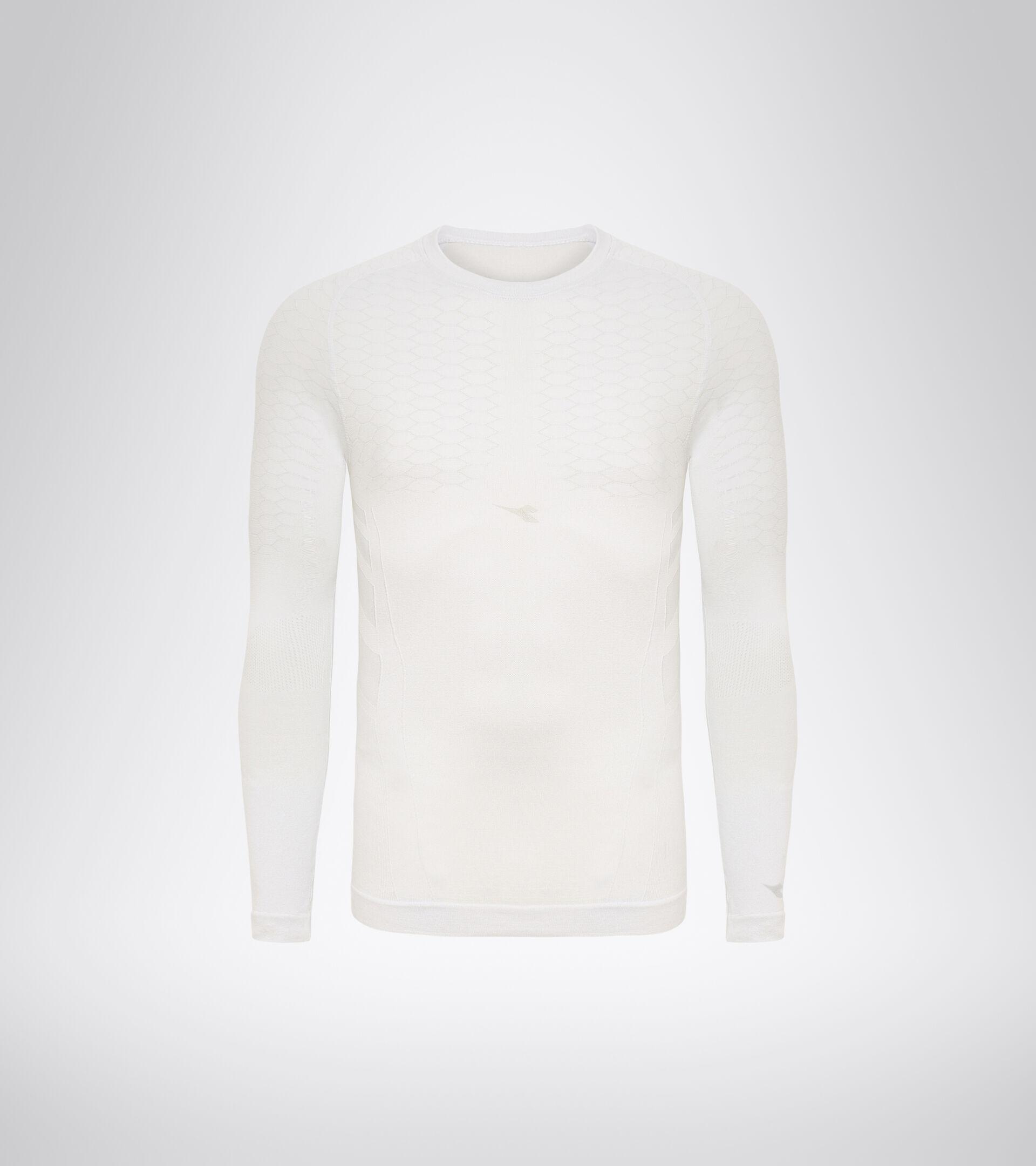 Long-sleeved training t-shirt - Men LS T-SHIRT ACT OPTICAL WHITE - Diadora