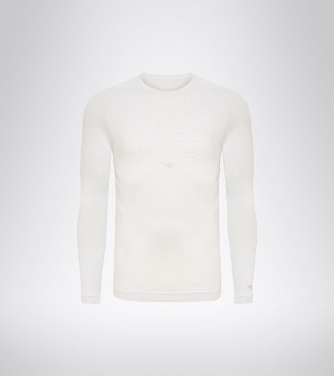 T-shirt d'entraînement à manches longues - Homme LS T-SHIRT ACT BLANC VIF - Diadora