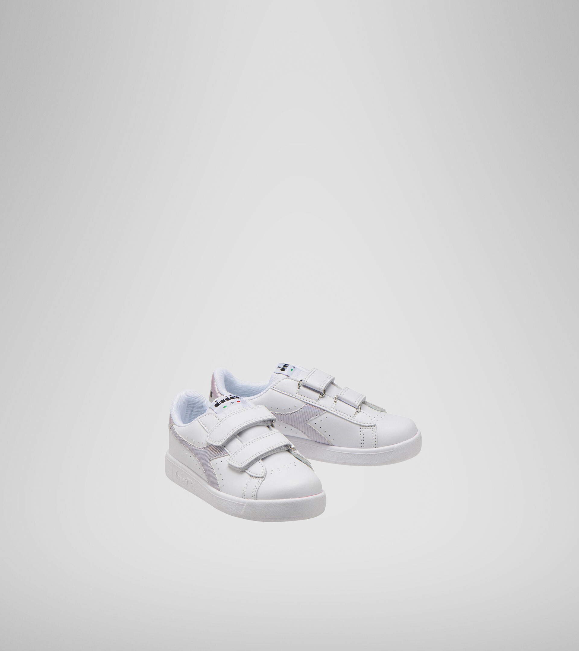 Footwear Sport BAMBINO GAME P PS GIRL WHITE/ORCHID BLOOM Diadora