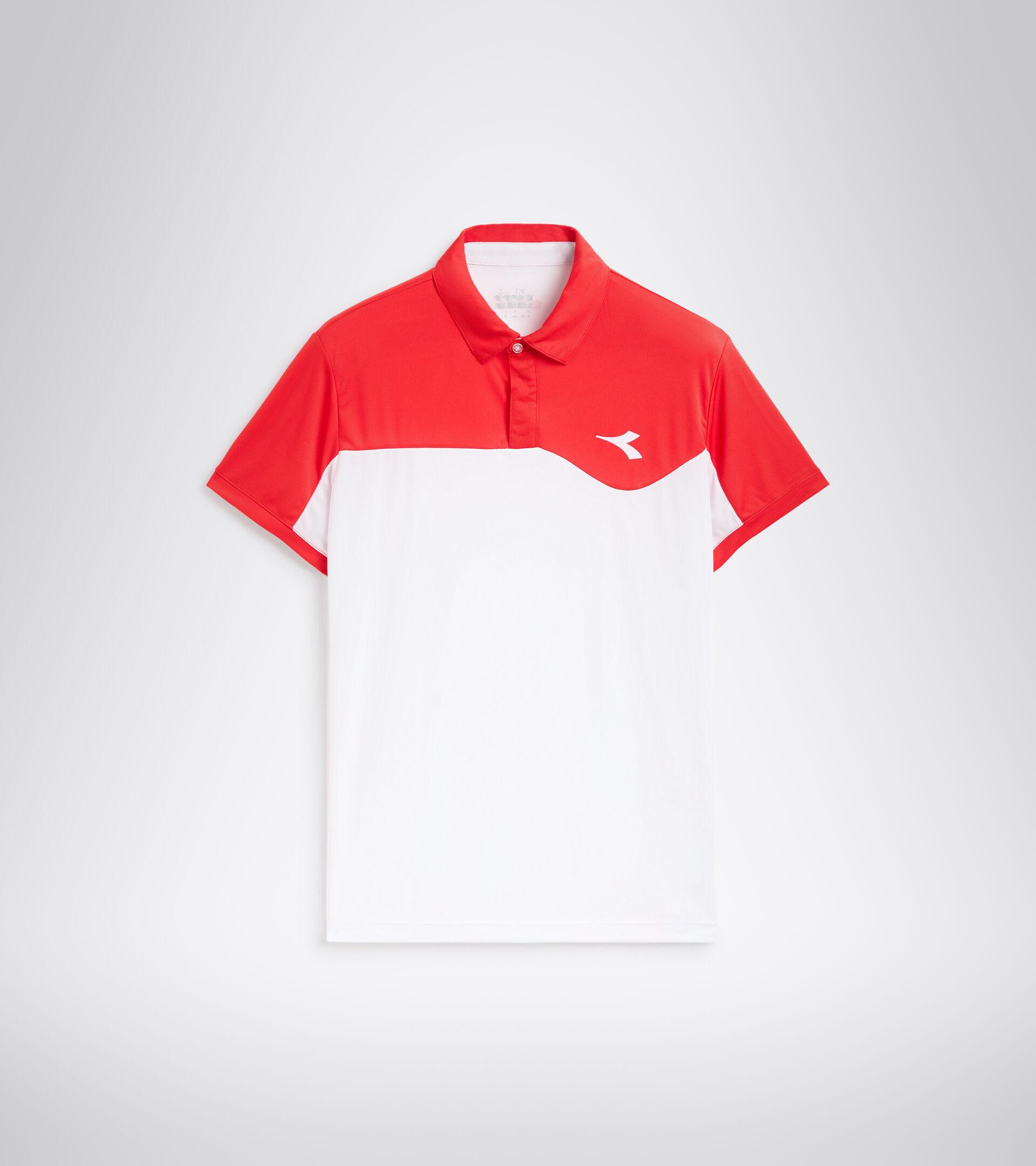 Tennis polo shirt - Men POLO COURT TOMATO RED - Diadora
