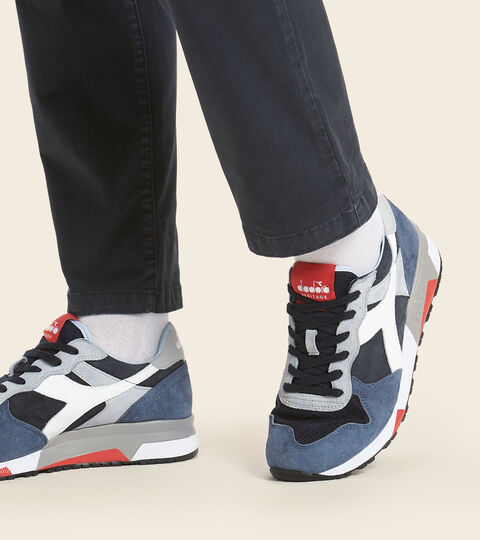 Made in Italy Heritage shoe - Men TRIDENT 90 SUEDE SW BLUE DENIM - Diadora