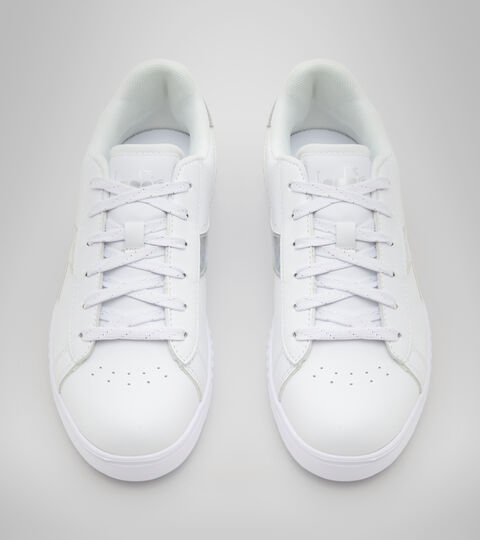 Footwear Sport BAMBINO GAME STEP DIAMONDS GS BIANCO/ARGENTO Diadora