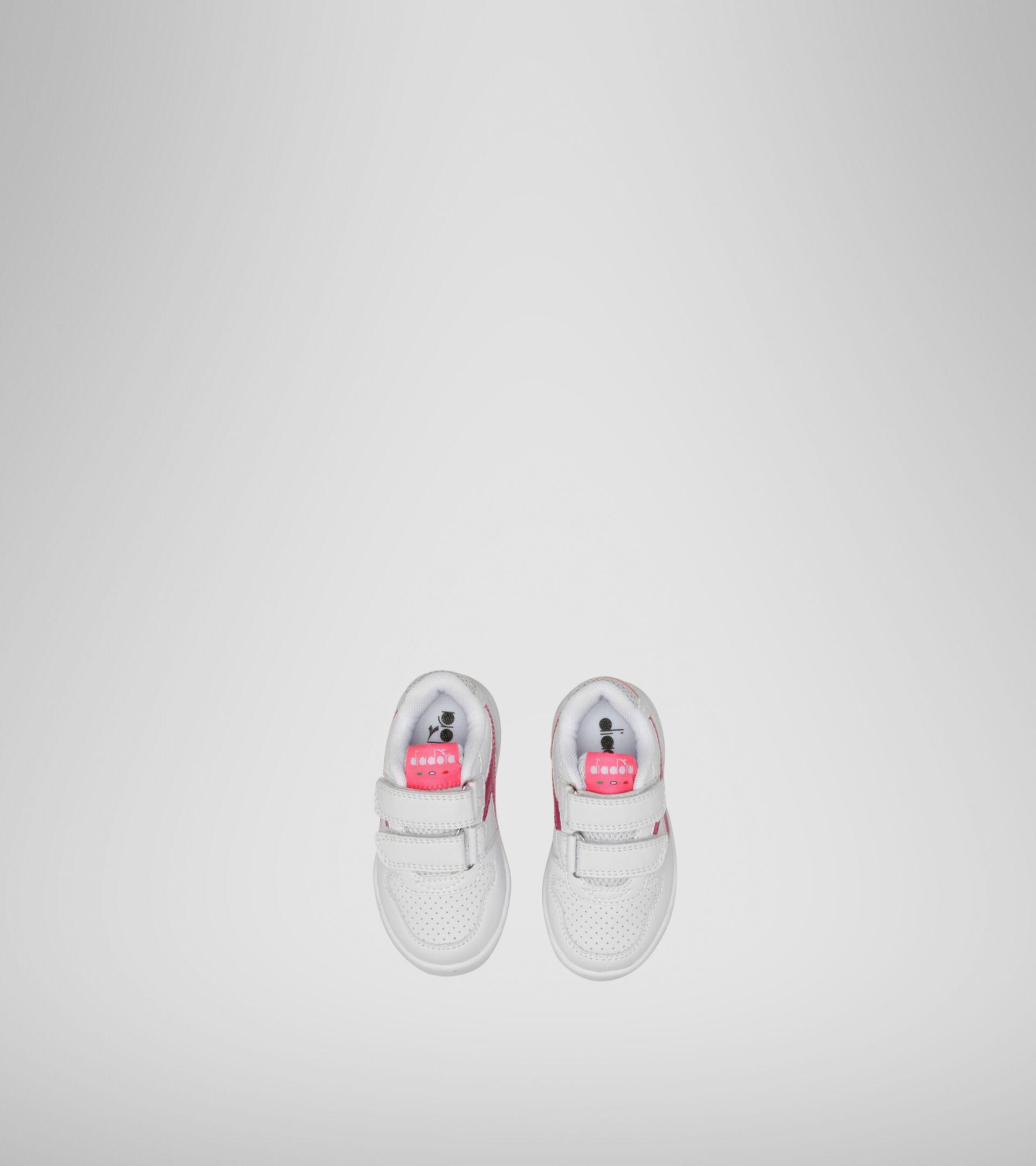 Footwear Sport BAMBINO PLAYGROUND TD GIRL WHITE/PINK FLUO Diadora