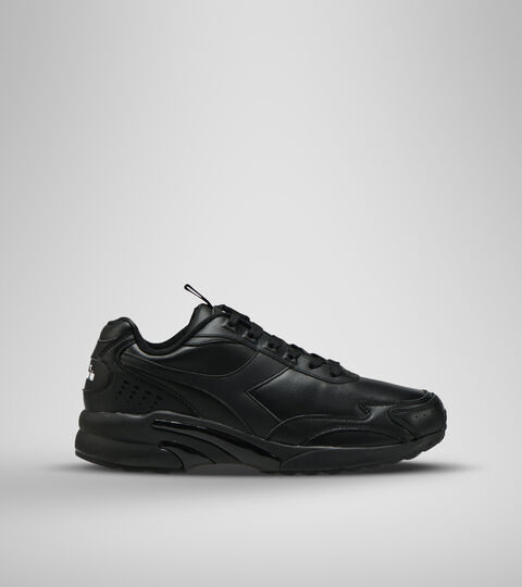 Footwear Sportswear UNISEX DISTANCE 280 LEATHER NERO/NERO/NERO Diadora