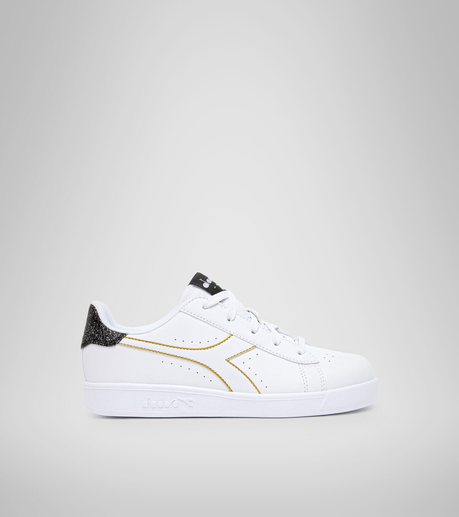 Footwear Sport BAMBINO GAME P GS GIRL WHITE/BLACK/GOLD Diadora
