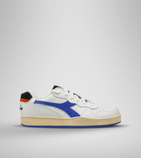Sports shoe -Unisex MI BASKET LOW ICONA WHITE/AMPARO BLUE/ORANGEADE - Diadora