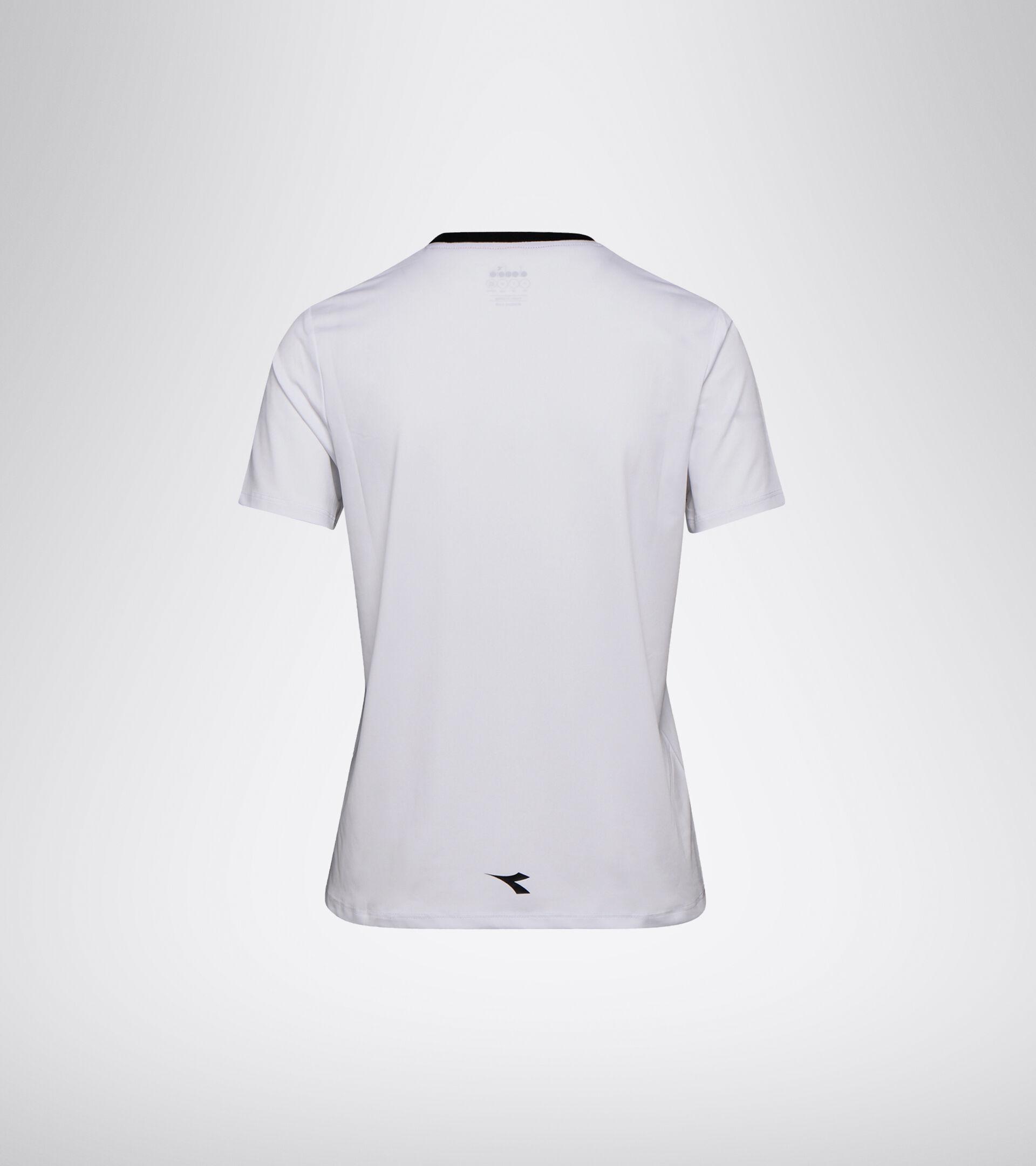 Camiseta de tenis - Mujer L. SS T-SHIRT BLANCO VIVO/NEGRO - Diadora