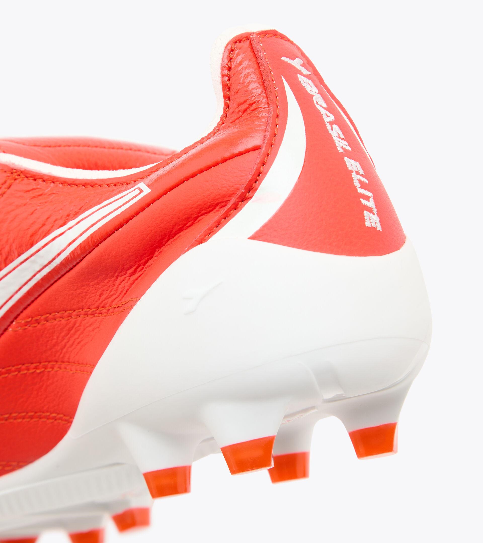 Fußballschuh für kompakte Böden BRASIL ELITE TECH T ITA LPX FLUO ROT/WEISS - Diadora