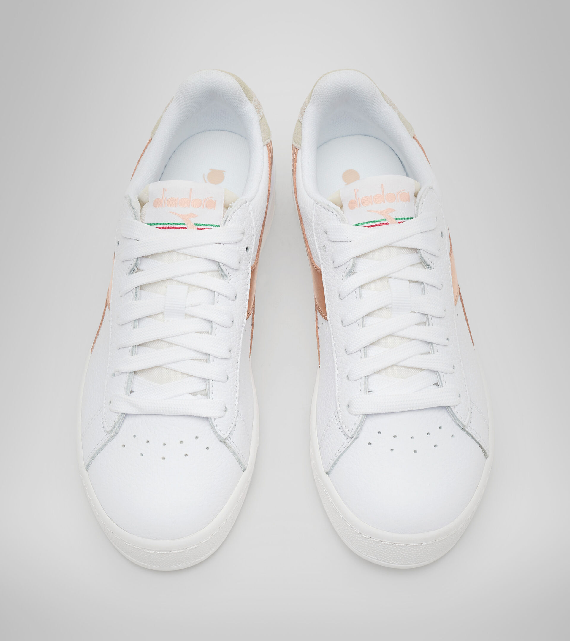 Footwear Sportswear DONNA GAME L LOW ICONA GLOSSY WN WHITE/COPPER Diadora