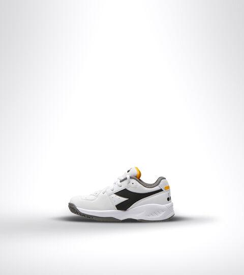 Zapatillas de tenis para terrenos duros y tierra batida - Unisex niños S. CHALLENGE 3 SL JR BLACO/NEGRO/AZAFRAN - Diadora
