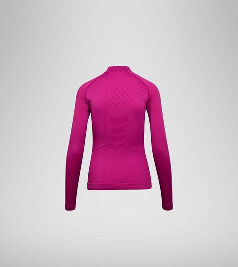 Long-sleeved training t-shirt - Women L. TURTLE NECK ACT VIOLET RASPBERRY - Diadora