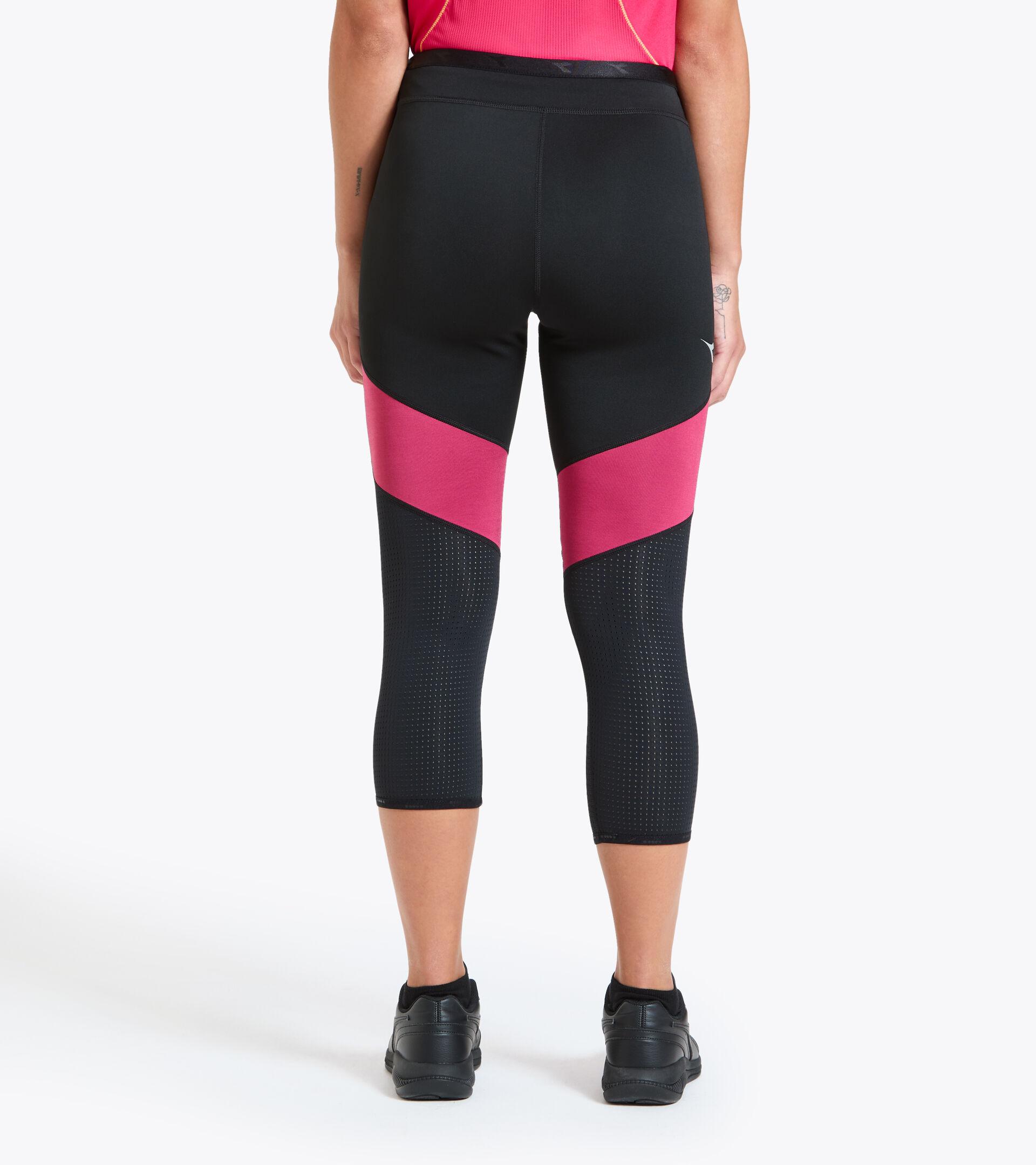 Running leggings - Women L. 6/8 REVERSIBLE TIGHTS BE ONE BLACK - Diadora