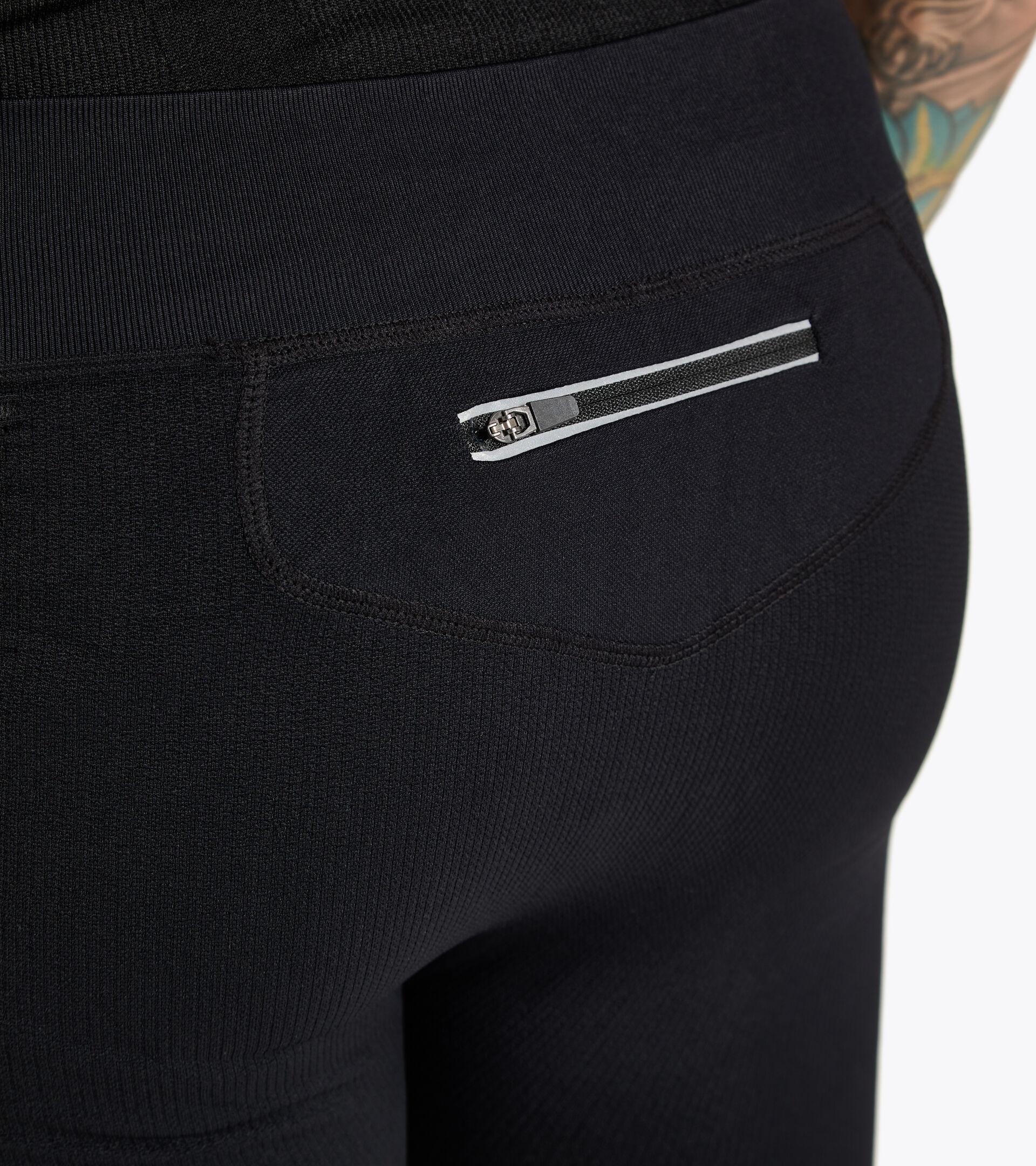 Pantalones para correr Made in Italy - Hombre HIDDEN POWER PANTS NEGRO - Diadora