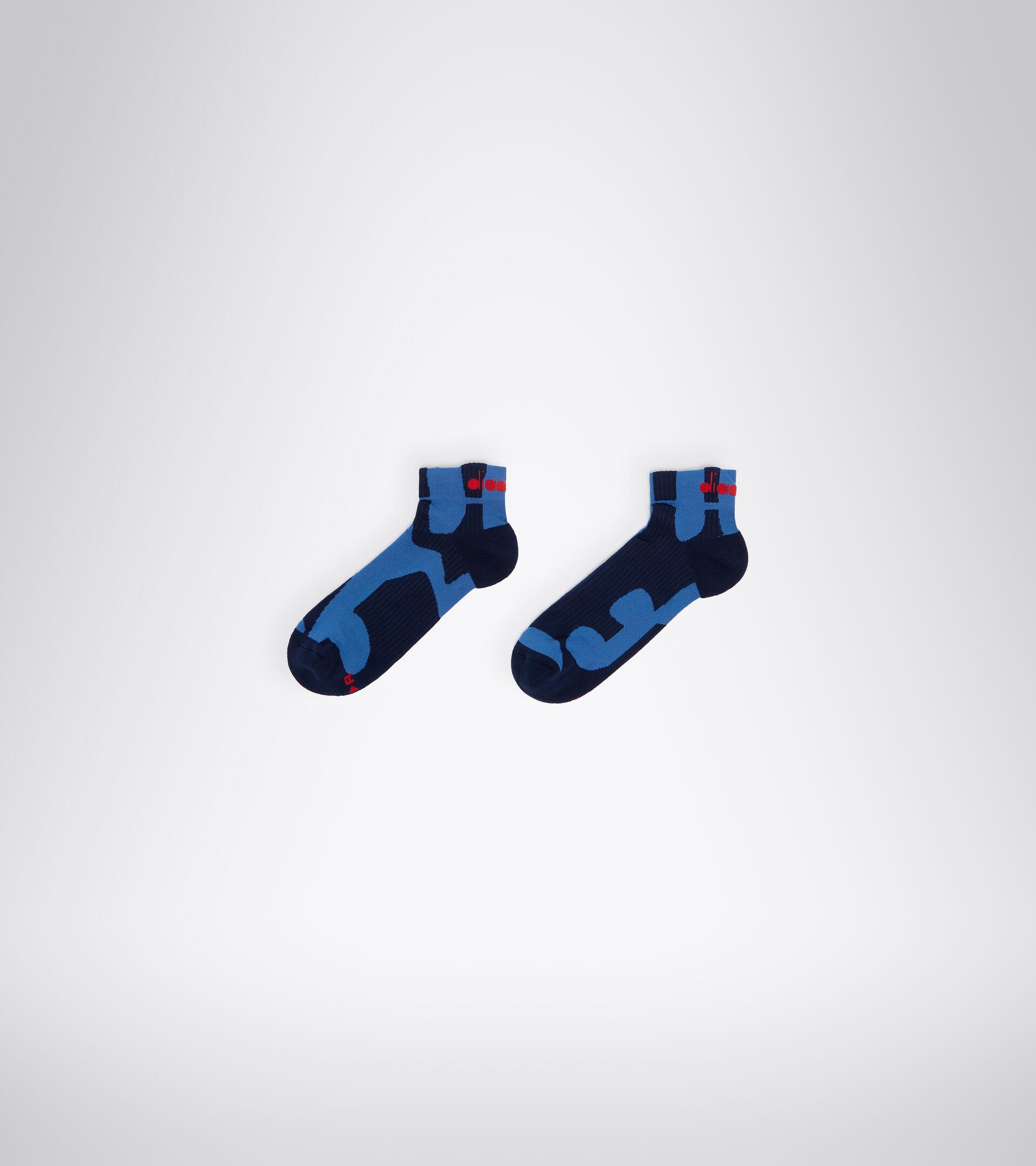 Unisex Running Socks CUSHION QUARTER SOCKS FEDERAL BLUE - Diadora