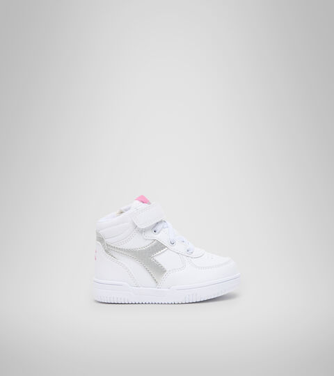 Sports shoes - Toddlers 1-4 years RAPTOR MID TD WHITE/SILVER - Diadora